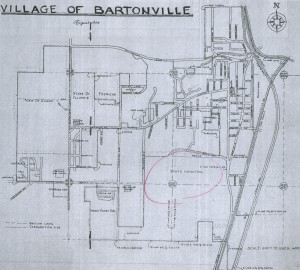 The Village of Bartonville IL August 1958 drawing